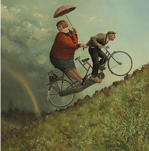 Quelli che vanno in bicicletta sanno che nella vita niente è mai piatto.